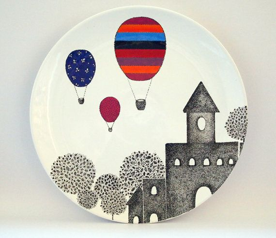 Castle design wall plate от ZuppaAtelier на Etsy
