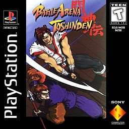 Battle Arena Toshinden - Tamsoft; weapons-based fighting game for the PlayStation, Sega Saturn & PC in 1994. It was one of the first fighting games to boast polygonal characters in a 3D environment. soon games like Tekken started emerging & Battle Arena Toshinden quickly declined in popularity. was the first 3D weapons fighter & was succeeded in spirit by the Soul Edge/Calibur series.