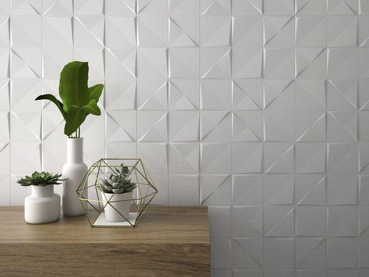 ALEATORY WHITE Revestimiento de pared 3D de cerámica by ALEA diseño Victor Carrasco