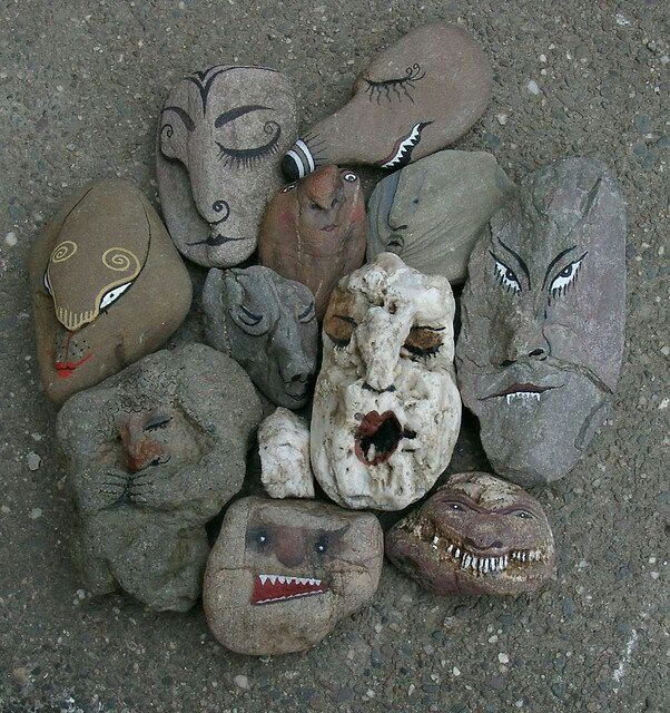Rock spirits - just like tree spirits - I always say that 'rocks' are my friends. . .