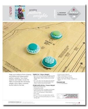 Pretty Pattern Weights: Pretty Patterns, Free Sewing, Fabrics Patterns, Pattern Weights, Free Projects, Patterns Weights, Weights Tutorials, Weights Patterns, Sewing Patterns