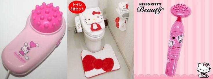 aménagement déco salle de bain hello kitty