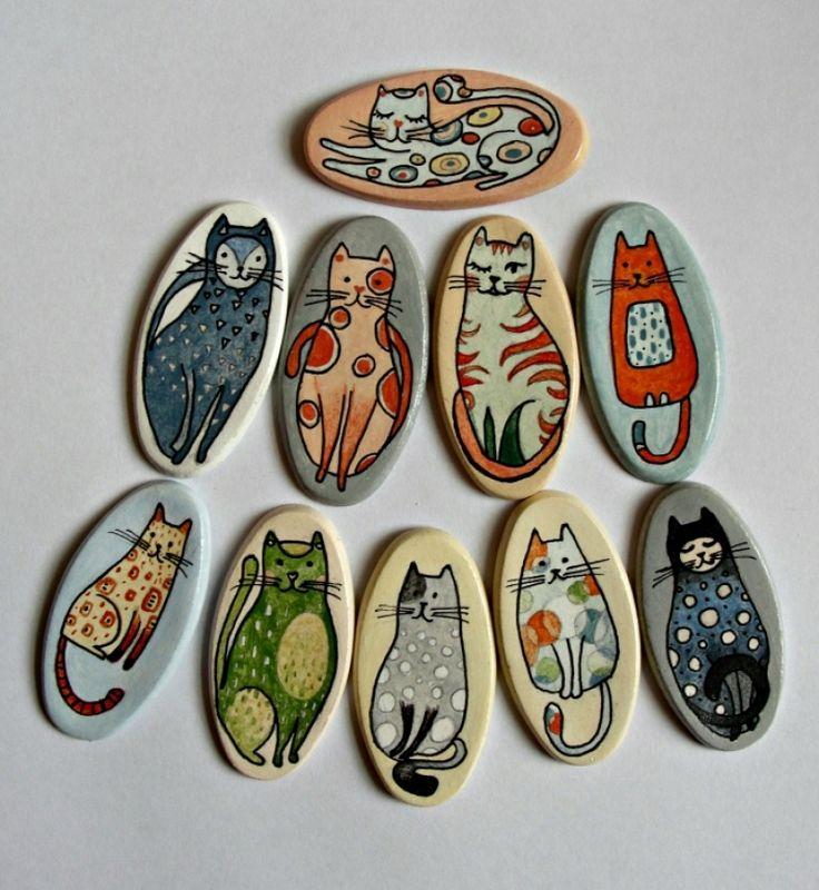 """Brose+ceramica+""""Nasty+Cats"""""""