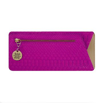 This Bella Borz clutch is an ingenious, origami-like envelope for carrying just your necessities. It has several compartments, is crafted from South African python, and can fit your cell phone, lip-gloss, credit cards—anything you might need to ensure a great night out.