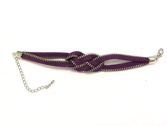 zipper bracelet recycle jewelry zipper jewelry knot by artstudio88, $15.00