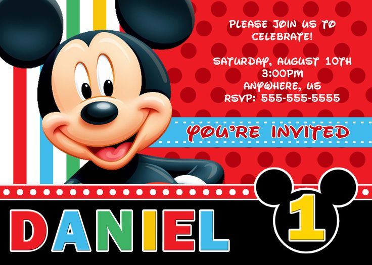 304 best Disney Mickey Mouse Birthday Invitations images on - mickey mouse invitation template