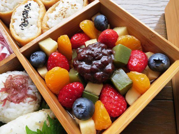 綜合水果蜜紅豆抹茶寒天