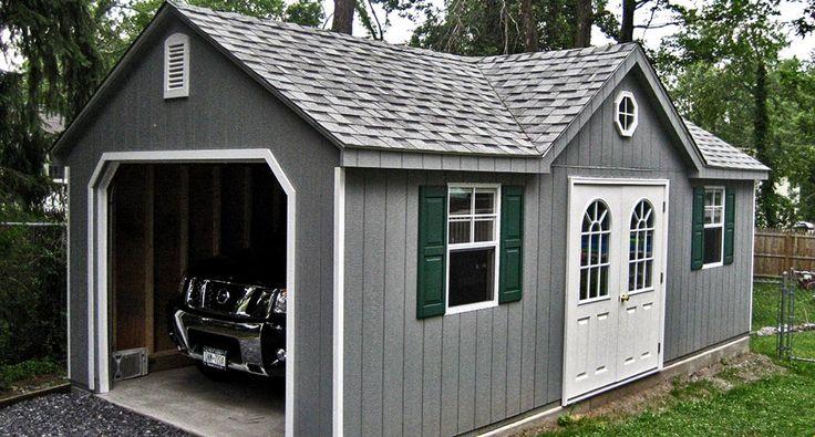 17 best ideas about prefab garages on pinterest prefab for Single car garage kit