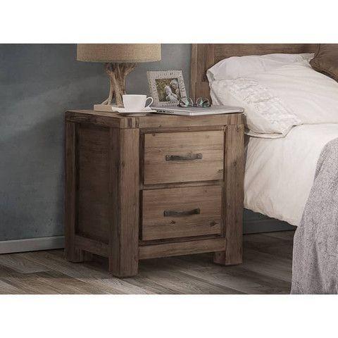 Bedside Pedestal - Acacia Wood