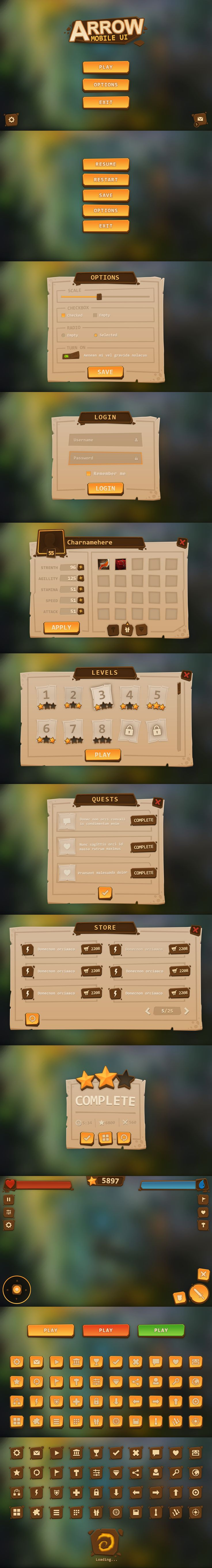Arrow Mobile UI