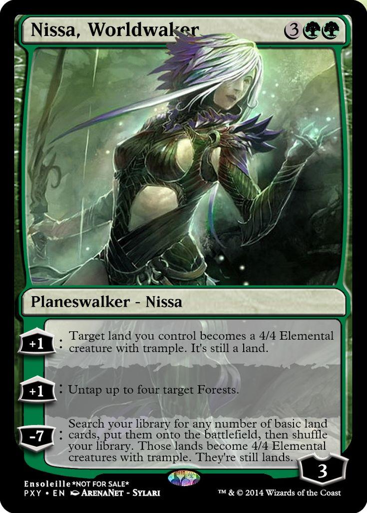 Magic the Gathering - Nissa, Worldwaker by ASliceOfUnagi on DeviantArt