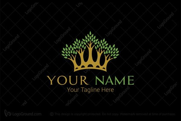 Logo for sale: Crown Trees Logo