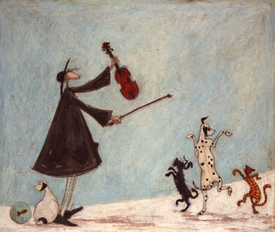 Sam Toft -- For I am the Lord of the dance, said he. This is one of 3 Sam Toft prints I have in my kitchen - love her work!