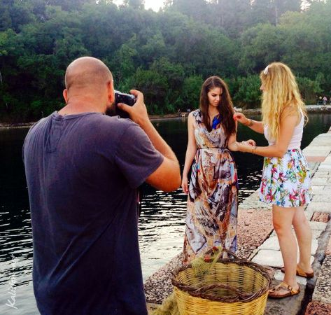 Campaign Photoshoot - Kaliston art | Luxury silk scarves & pareo