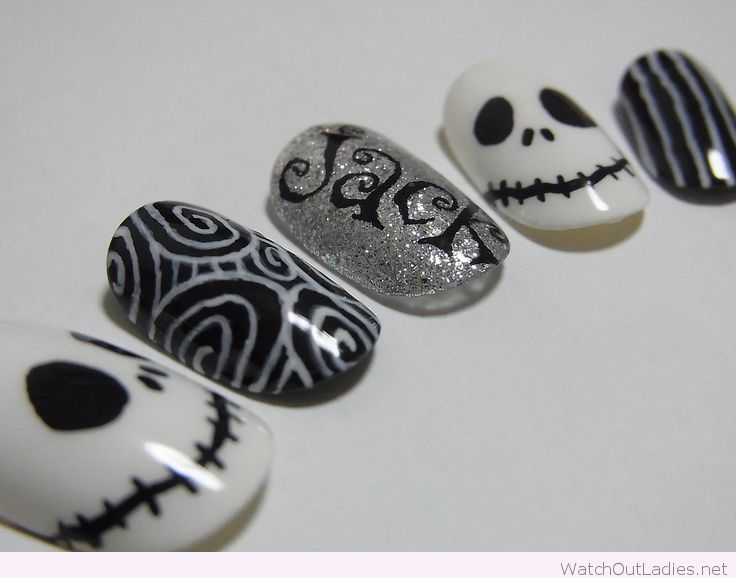 Jack Skellington nails for Halloween