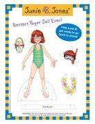 Junie B. Jones Paper Doll Kit 4 pages of FREE Printables On The Random House Kids Site