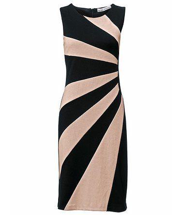 heine TIMELESS Etuikleid Jersey - rosa schwarz   Festlich elegante ... f92b2dae0b