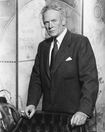 """Charles Bickford (1891 - 1967) Actor. Starred in over 90 motion pictures, most notably """"The Big Country"""", """"A Star Is Born"""", """"Man Behind The Badge"""", and """"Four Faces West""""."""