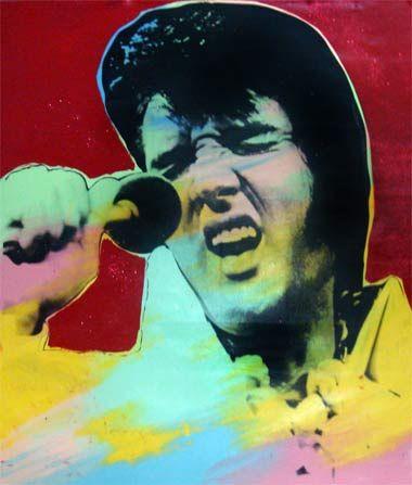 Steve Kaufman > Elvis II  #stevekaufman #popart #elvis #canvas #silkscreen #fineart #prints