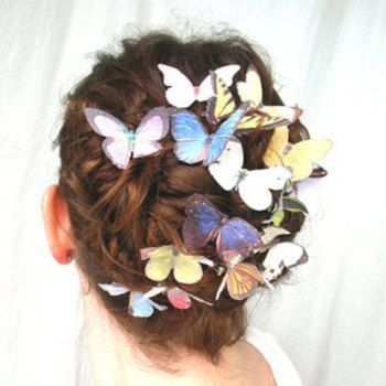 Exquisite Fresh Romantic Style Colorful Butterfly Shape Hairpin For Women, COLOR ASSORTED in Hair Accessories   DressLily.com
