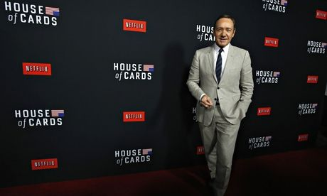Cheerleader-in-chief for Netflix original programming: actor Kevin Spacey, who stars in the remake of 'House of Cards'