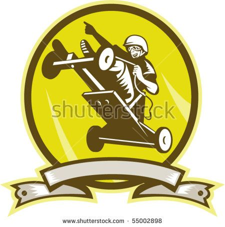 vector illustration of a Soap box derby car jumping viewed from low angle with scroll #soapboxderby #woodcut #illustration