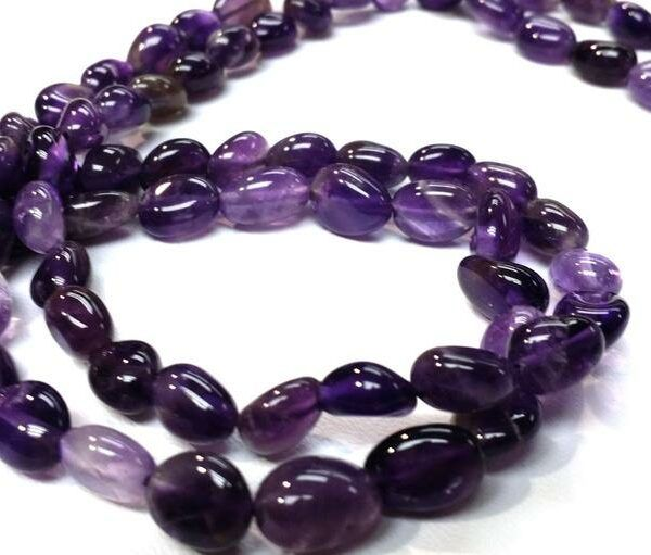 "Genuine Stone Faceted Amethyst 14 to 15 /"" Strand in various Shapes"