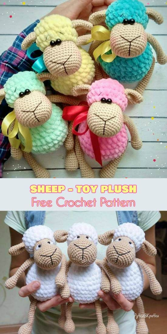 Sheep - Toys Plush - Amigurumi [Free Crochet Pattern] #crochet #lovecrochet #freepattern #amigurumi