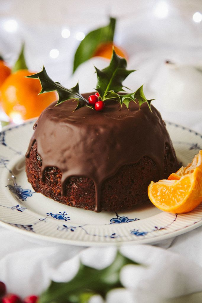 Chocolate Orange Christmas Pudding (Vegan)