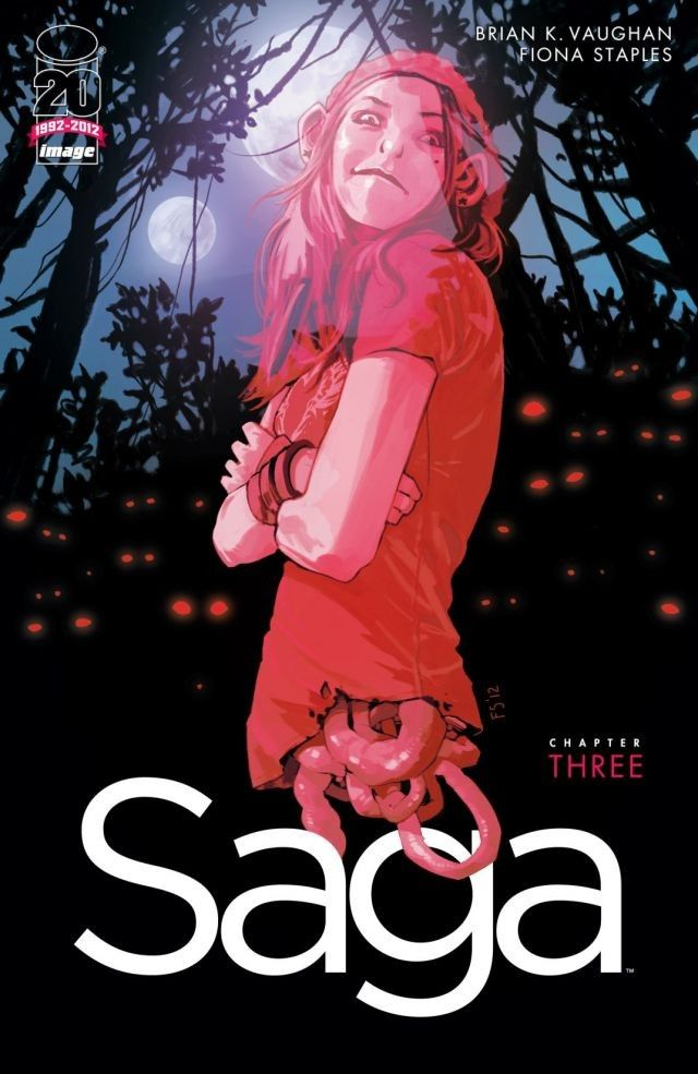 BKV's and FIONA STAPLES' controversial epic continues! Stranded on a mystical alien world, new parents Marko and Alana encounter their greatest fear. Download Saga #3 now...