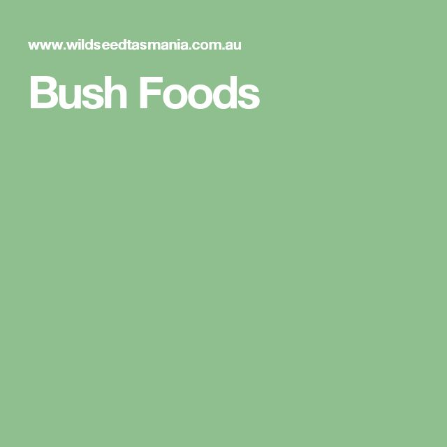 Bush Foods