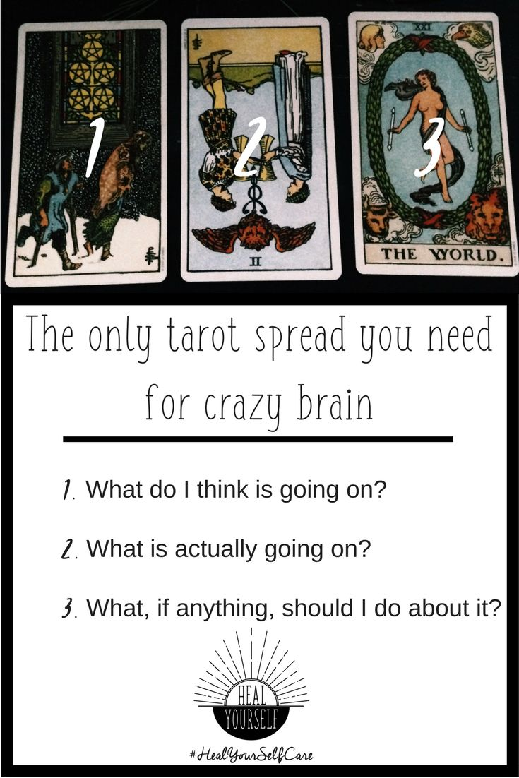 How to use tarot for self care with this simple spread. When anxiety and depression won't lift, this is the only spread you need to snap out of the funk. sarahmchappell.com