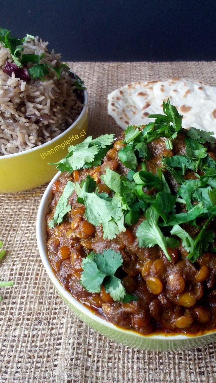 Exquisito Curry de Lentejas al más puro estilo de la India.