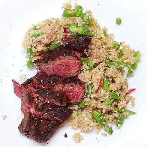 Hangar Steak & Quinoa Salad: I used flank steak, but oh so good!!