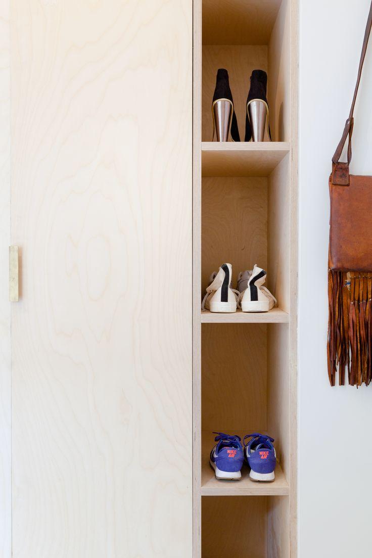 ply wardrobes, ply shelves, storage, brass handles