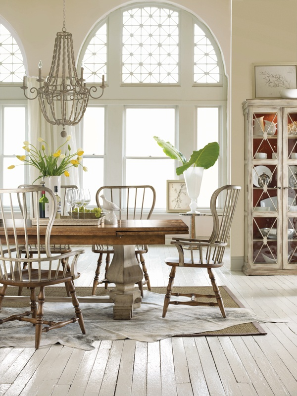 Hooker Furniture Sanctuary 7 Piece Refectory Dining Set In Drift Dune
