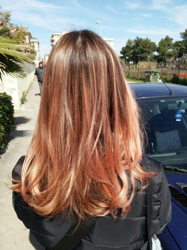 Golden Rose Hair Capelli Rosa Pesca Hair Peach Hair