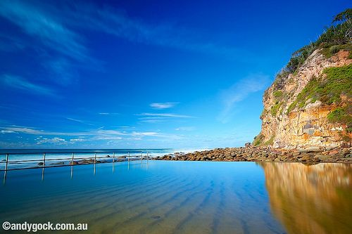 Ocean Baths at MacMasters Beach. This is where I grew up.