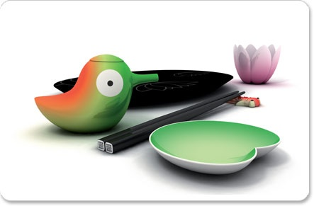 I need this!! Lily pond sushi set for Alessi