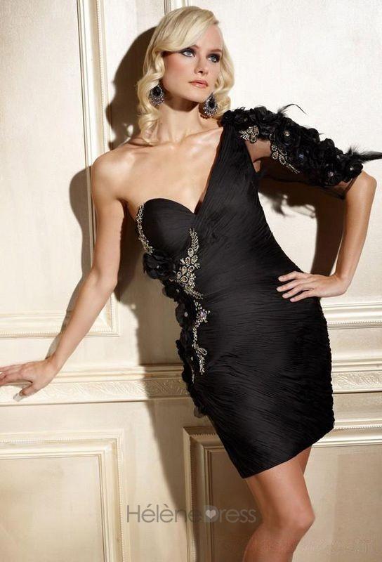 Superior Column One-Shoulder Mini-Length Cocktail/Event Dresses - Cocktail Dresses - Special Occasion Dresses