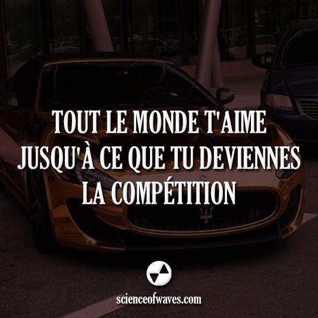 Tout le monde t'aime jusqu'à ce que tu deviennes la compétition. #motivation #citations #citation #compétition #éco