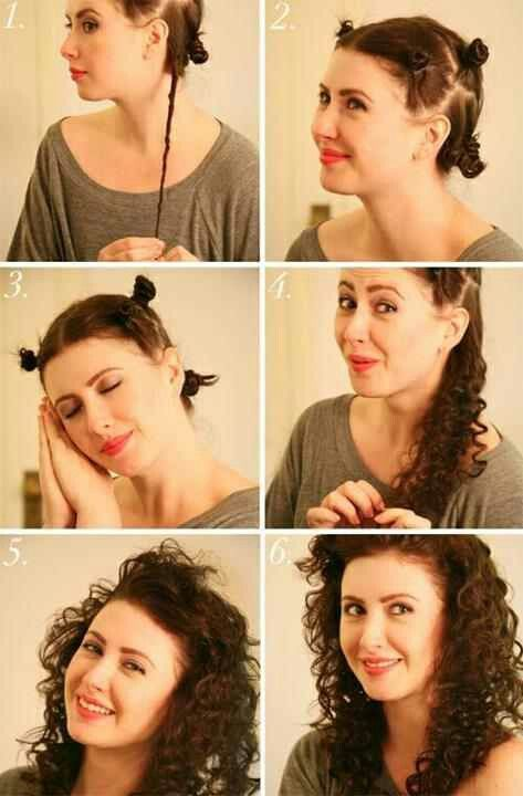 How to curl your hair naturally without any heat .... I actually did this (it is a bit uncomfortable to sleep in) but it works ;-)