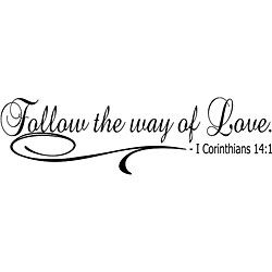 Design on Style 'Follow the Way of Love' Bible Verse Vinyl Wall Art Quote by…