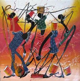 Tinga Tinga Art - Sarange (painter)