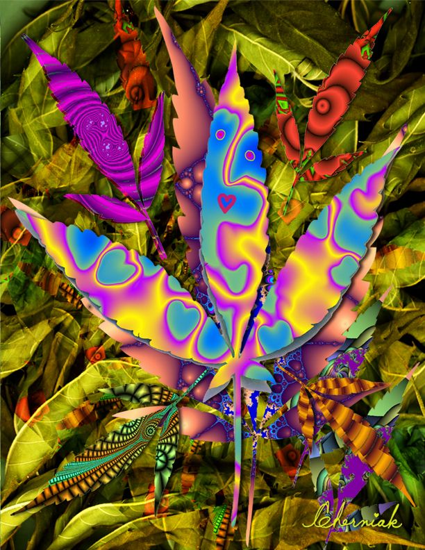 Weed Art | Another animantion with 200 more unique leaves will be here by Aug. 10 ...