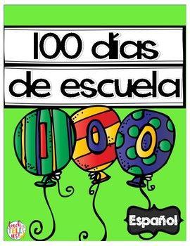 100th Day of School Spanish - 100 dias de escuelaYour students will have a lot of fun celebrating 100 days of school using these activities in Spanish!This download includes:- Hoja para colorear- Contar hasta 100 con tabla de 100 (hundreds chart) - 3 niveles- Podemos escribir 100 palabras- 100 peces: tira el dado, colorea 100 peces y utiliza marcas de conteo- Qu puedes hacer en 100 segundos?- Encuentra el nmero 100- De 2 en 2 hasta el 100 - 2 niveles- De 5 en 5 hasta el 100 - 2 niveles…