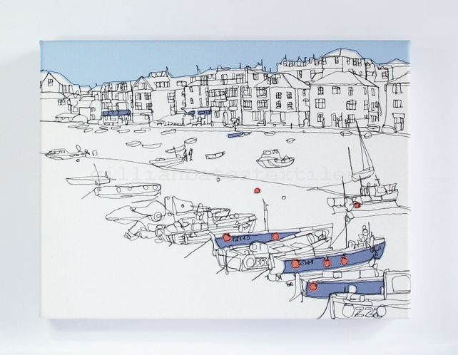 St Ives - Embroidery Art Canvas £175.00