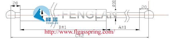FENGLAN ¢10MM STRUTS--Gas spring gas spring,industrial gas springs,gas spring china,gas spring manufacturers,Free type Ball-Socket Series,Ball-Socket Series gas spring,compressed gas spring,Auto Accessories FEATURES:         QPQ coating on shaft         Plastic quick-fit endsPISTON ROD&CYLINDER DIMENSIONS:         ¢10mm piston rod         ¢22mm cylinder Application:car hood;tool case;street lamp;cabinet furniture;fitness equipment;mechanical equipment,etc. http://www.flgasspring.com