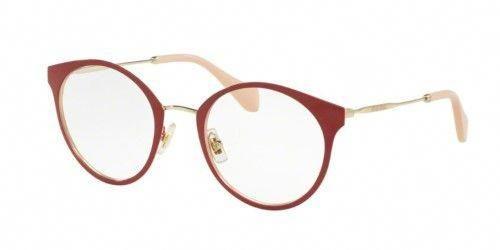 3632657212a Eyeglasses Miu Miu MU 51PV USS1O1 Pale Gold RED