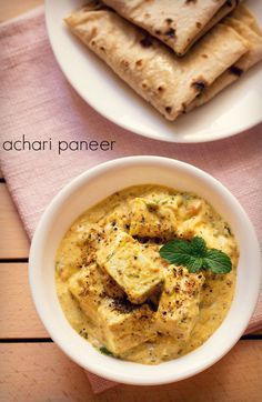 achari paneer recipe - creamy as well as robust flavored paneer gravy with achari masala or pickling spices. #paneer #cottagecheese